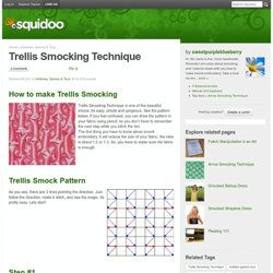 Trellis Smocking Technique