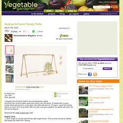 Build an A-Frame Tomato Trellis
