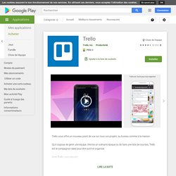 Trello: Organize anything with anyone, anywhere! – Apps on Google Play
