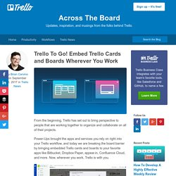 To Go! Embed Trello Cards and Boards Wherever You Work