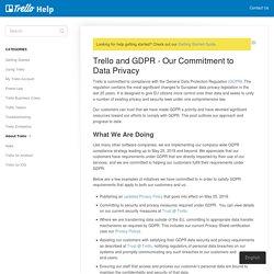 Trello and GDPR - Our Commitment to Data Privacy - Trello Help