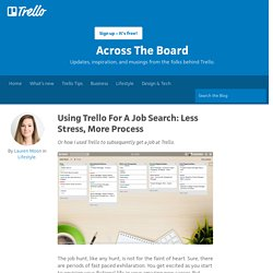 Using Trello For A Job Search: Less Stress, More Process