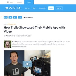 How Trello Showcased Their Mobile App with Video