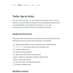 Trello: tips & tricks