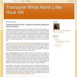 Tremayne White NLR AR - Academic Advisers Leading the Way for Students