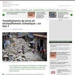 Tremblements de terre et réchauffement climatique: un lien?