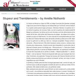 Stupeur and Tremblements – by Amélie Nothomb - AF Westchester