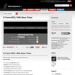 X-Treme RSS / XML News Ticker - Flash Components