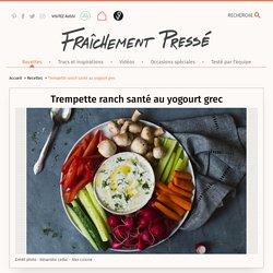Trempette ranch santé au yogourt grec