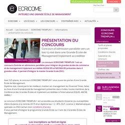 TREMPLIN 1 – Concours Ecole de commerce Post bac+2