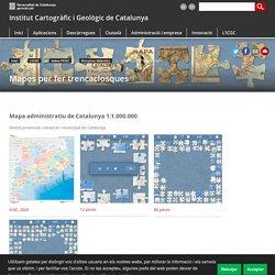 Mapes per fer trencaclosques. Institut Cartogràfic i Geològic de Catalunya