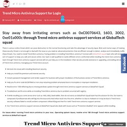 Trend Micro Antivirus Support