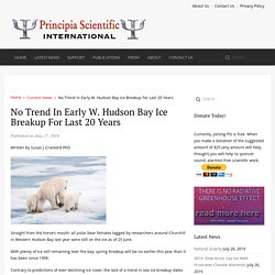 No Trend In Early W. Hudson Bay Ice Breakup For Last 20 Years