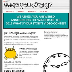 """What's Your Story?"" Internet Safety Video Contest"