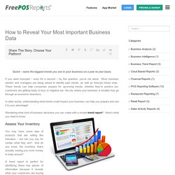 Trend Report Helps You to Revel Your Business Data