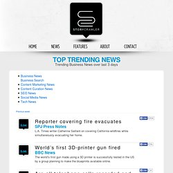 Trending Business News over last 3 days | StoryCrawler