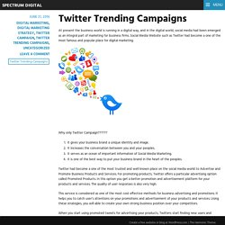 Twitter Trending Campaigns