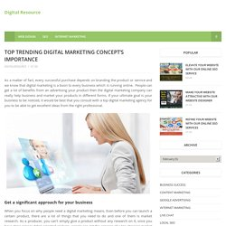 Top Trending Digital Marketing Concept's Importance