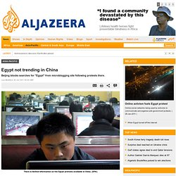 Egypt banished from Chinese Twitter - Asia-Pacific