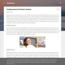 Trending Aspects Of Pediatric Dentistry