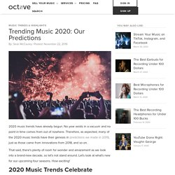 Trending Music 2020: Our Predictions