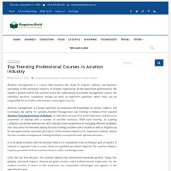 Top Trending Professional Courses in Aviation Industry