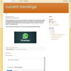 whatsapp's new upcoming features