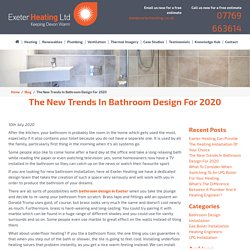 The New Trends In Bathroom Design For 2020