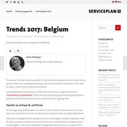Trends 2017: Belgium - Serviceplan Blog