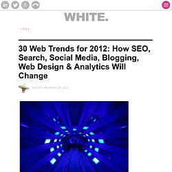 30 Web Trends for 2012: How SEO, Search, Social Media, Blogging, Web Design & Analytics Will Change