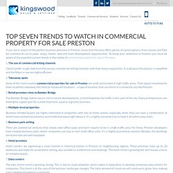 Top Trends to Watch in Commercial Property for Sale Preston
