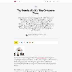 Top Trends of 2012: The Consumer Cloud