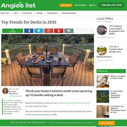 Top Trends for Decks in 2015