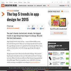 The top 5 trends in app design for 2015