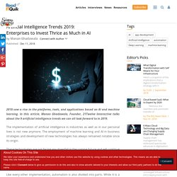 AI Trends 2019: Enterprises to Invest Thrice as Much in AI