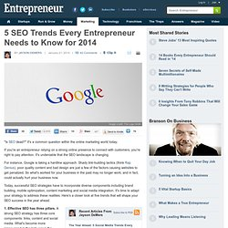 5 SEO Trends Every Entrepreneur Needs to Know for 2014