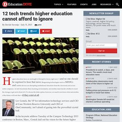 12 tech trends higher education cannot afford to ignore