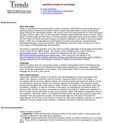 TRENDS - Instructions to authors