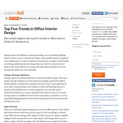 Top Five Trends in Office Interior Design