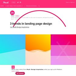 3 trends in landing page design – Muzli -Design Inspiration