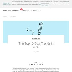 The Top 10 Goal Trends in 2018