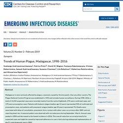 CDC EID - FEV 2019 - Trends of Human Plague, Madagascar, 1998–2016