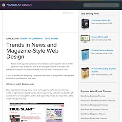 Trends in News and Magazine-Style Web Design