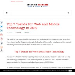 Top 7 Trends for Web and Mobile Technology in 2019