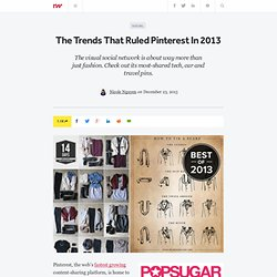The Trends That Ruled Pinterest In 2013