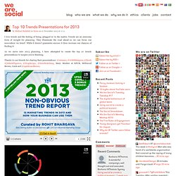 Top 10 Trends Presentations for 2013
