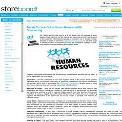 Trends To Look Out In Human Resource Outsourcing