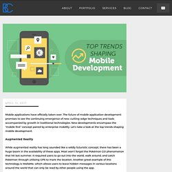 Top Trends Shaping Mobile Development