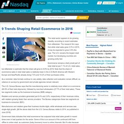 9 Trends Shaping Retail Ecommerce in 2016