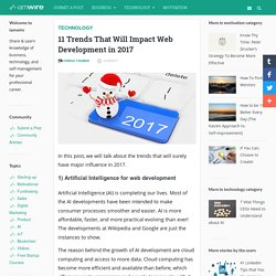 Which 11 trends will impact on web development?